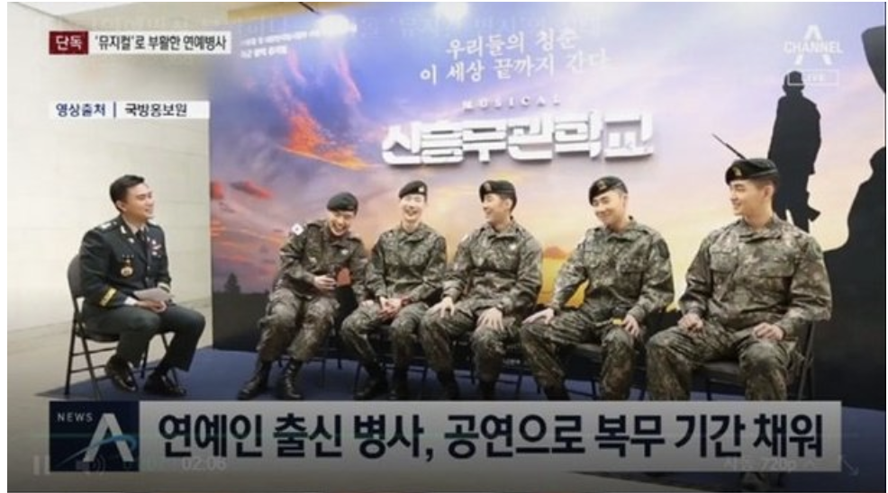 Idol members who participate in military musicals under controversy for being given special perks + get to use their phones and speak informally to officers | allkpop