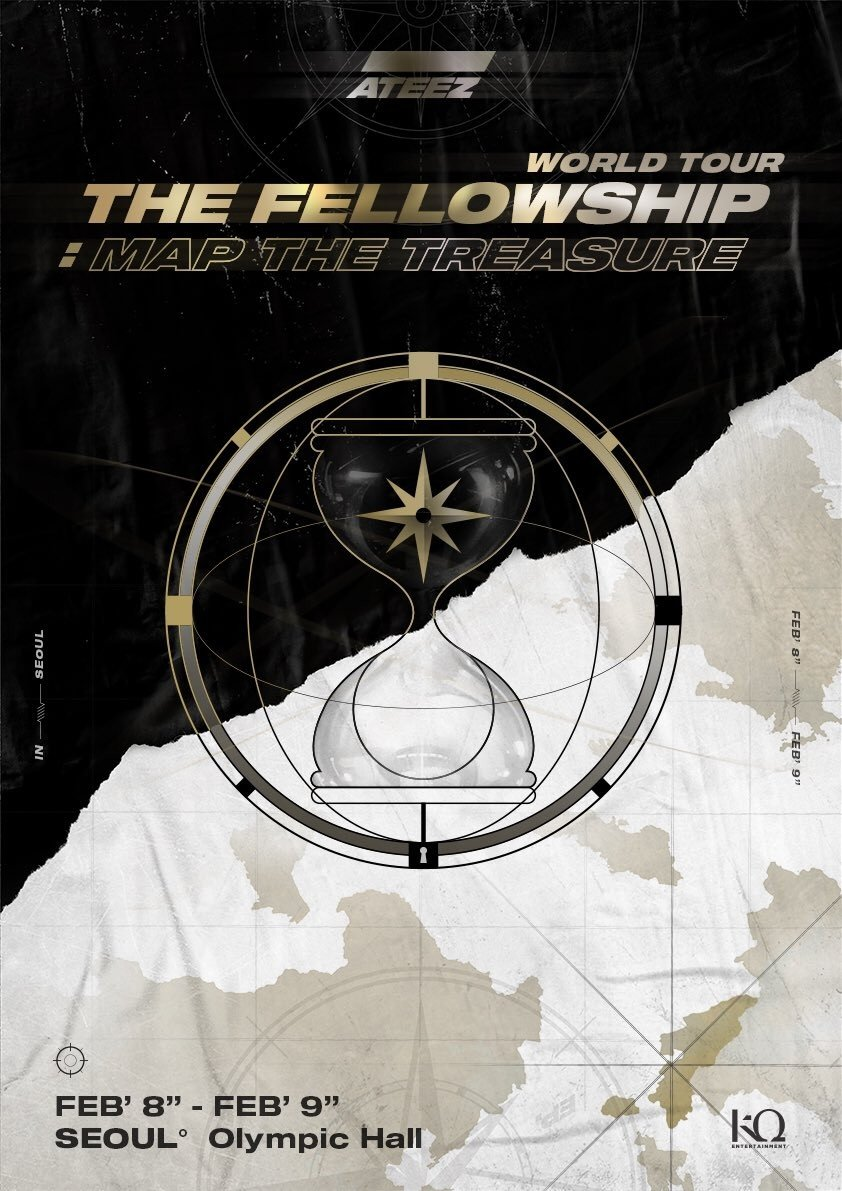 Bts World Tour 2020.Ateez Announce 1st Solo Concert The Fellowship Map The