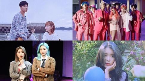 Akdong Musician (AKMU), Bolbbalgan4, BTS, IU, MC Mong