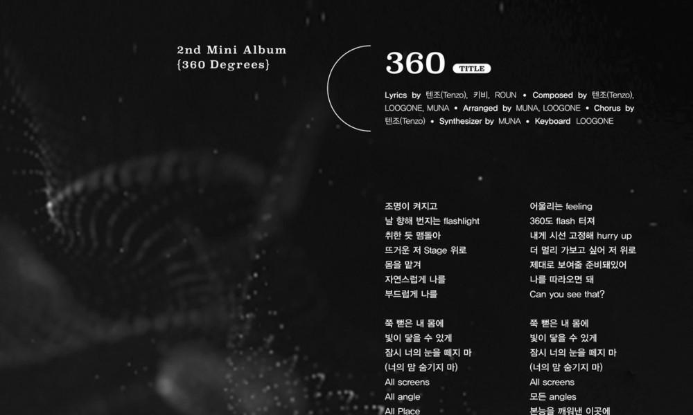 Park Ji Hoon drops lyrics teaser for upcoming single '360'   allkpop
