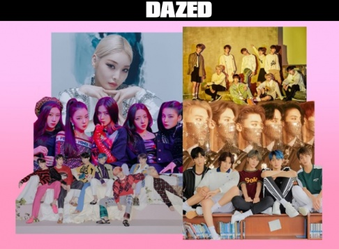 A Pink, AB6IX, A.C.E, ASTRO, ATEEZ, BLACKPINK, BTS, CLC, EVERGLOW, EXO, fromis_9, Golden Child, GOT7, ITZY, Kim Chung Ha, MONSTA X, NCT 127, NU