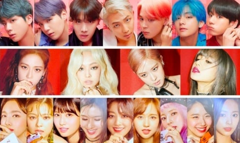 AB6IX, Baby V.O.X, Big Mama, BLACKPINK, Jennie, Ga In, BTS, Cherry Bullet, CIX, Cosmic Girls, Dream Catcher, EVERGLOW, EXO, Baekhyun, Chen, EXO-SC, Fin.K.L, fromis_9, f(x), GFriend (Girlfriend), Girls