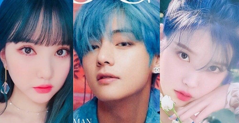 Netizens Discuss Their Favorite Idols With Trendy Blue Hair Allkpop