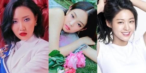 AOA, Seolhyun, BLACKPINK, Jennie, MAMAMOO, Hwa Sa