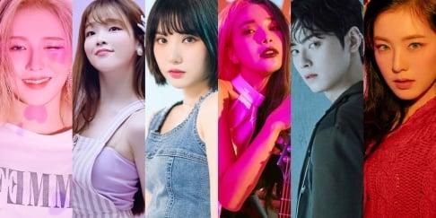 ASTRO, Cha Eun Woo, Seunghee, GFriend (Girlfriend), Eunha, MAMAMOO, Solar, Oh My Girl, Red Velvet, Irene, Wendy