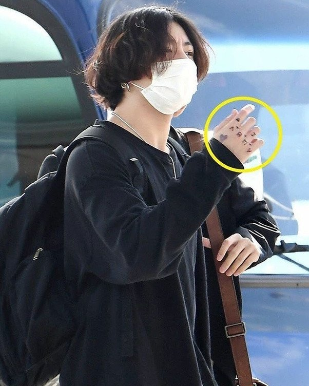 Tae And Jungkook Tattoo: Temporary Tattoos That BTS Jungkook Put On His Hand Are