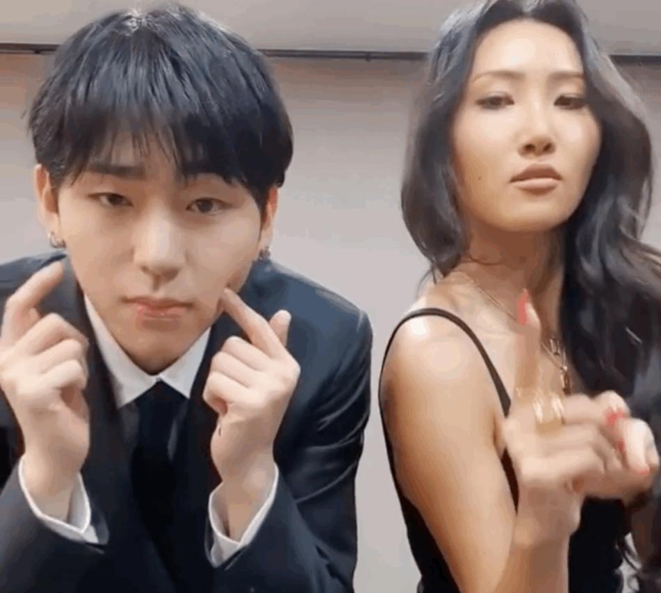 Block B's Zico and MAMAMOO's Hwa Sa create a new challenge for 'Anysong' | allkpop