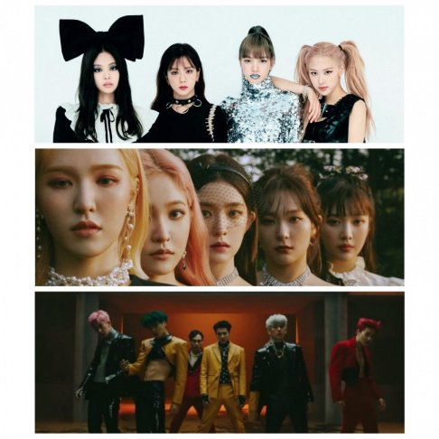 Akdong Musician (AKMU), BLACKPINK, Bolbbalgan4, EXO, Baekhyun, Heize, Lee Hi, MAMAMOO, Red Velvet
