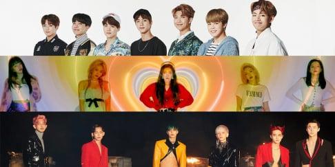 BTS, EXO, Red Velvet