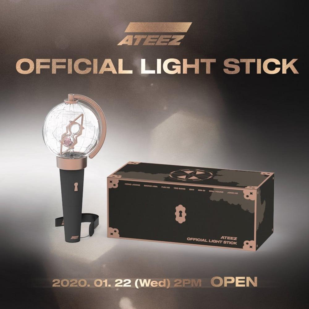 Ateez Drop A Preview Of Their Official Fan Light Stick Allkpop