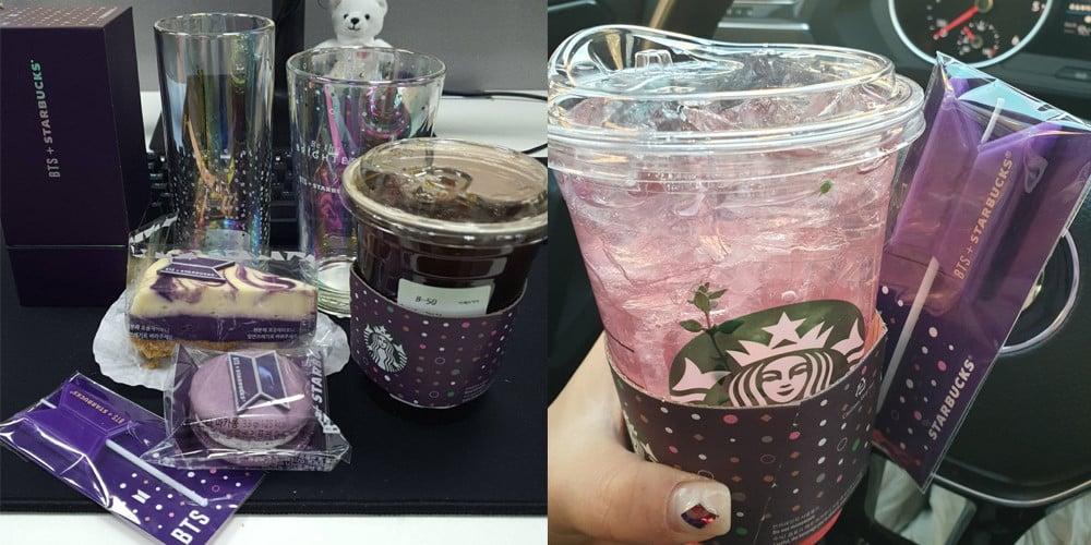 K-ARMYs share their reviews of BTS's 'Starbucks' collaboration goods + menus | allkpop