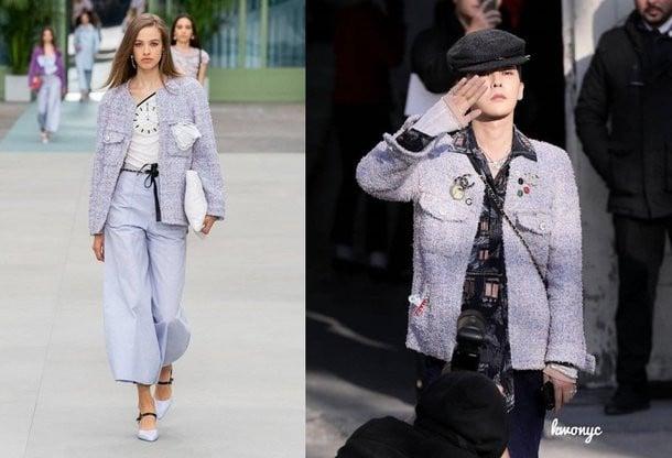 G-Dragon rocks female clothing at a fashion show | allkpop