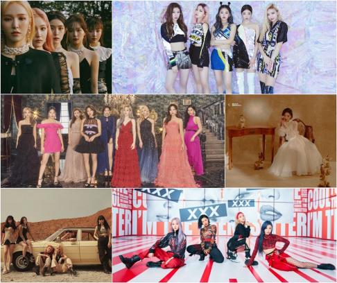 (G)I-DLE, ITZY, Kim Chung Ha, MAMAMOO, Red Velvet, TWICE