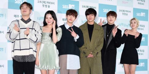 Sandeul, JooE, Kim Jae Hwan, Dara