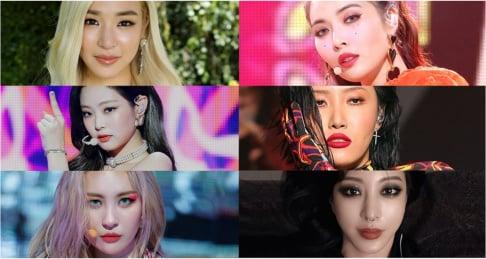 Seulgi, Jennie, Tiffany Young, Han Ye Seul, Yeji, Hwa Sa, Sunmi, Sana, HyunA