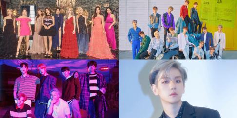 Baekhyun, Jus2, MONSTA X, Seventeen, TWICE