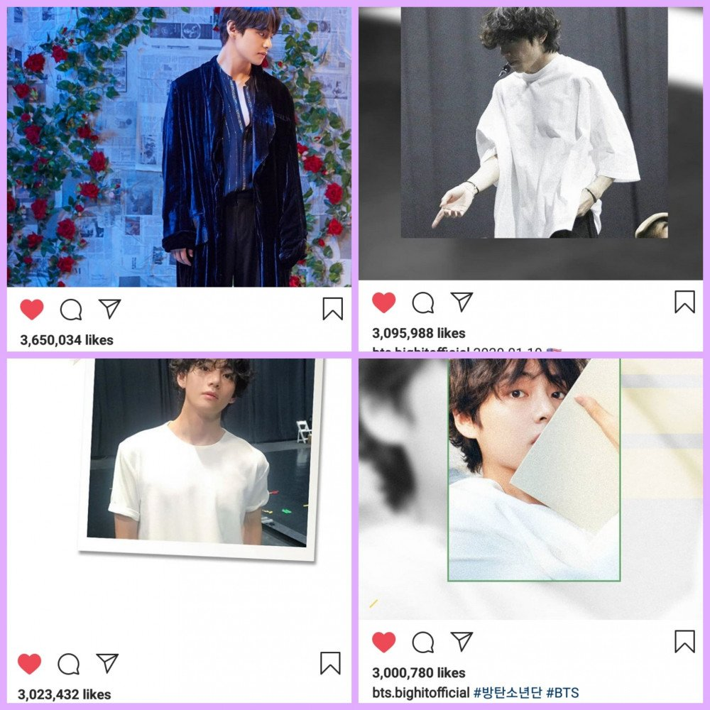 Bts V Becomes The First Male Korean Artist With 4 Instagram Photos
