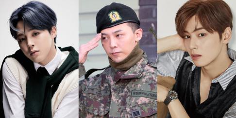 Cha Eun Woo, G-Dragon, Jimin