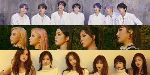 BTS, Red Velvet, T-ara