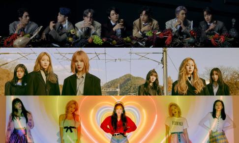 BTS, GFriend (Girlfriend), Red Velvet