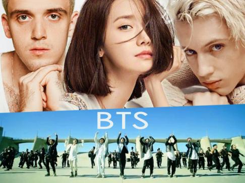 BTS, V, Jungkook, Jimin, Jin, j-hope, SUGA, RM (Rap Monster), YoonA