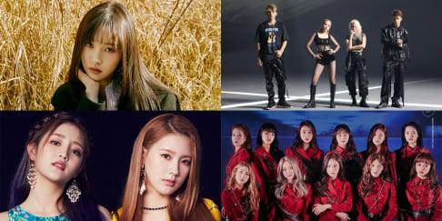 Eunji, Bizzy, Yuju, (G)I-DLE, Miyeon, Minnie, KARD, LOONA, The Boyz, Tiger JK, Ken
