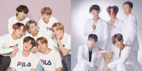 Big Bang, BTS, g.o.d, H.O.T, TVXQ
