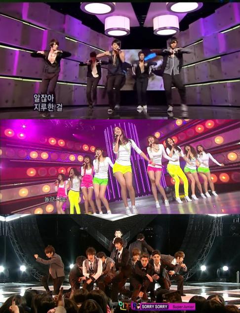 Big Bang, EXO, Girls
