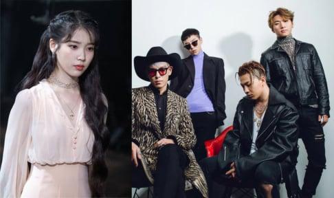 Big Bang, Taeyang, G-Dragon, BLACKPINK, Zico, Davichi, EXO, Taeyeon, YoonA, g.o.d, iKON, IU, SISTAR, Soyu, TWICE, Wonder Girls, 2NE1