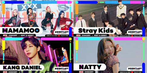CRAVITY, EVERGLOW, MAMAMOO, Natty, ONEUS, Stray Kids, VERIVERY, VICTON, Kang Daniel, Kim Jae Hwan
