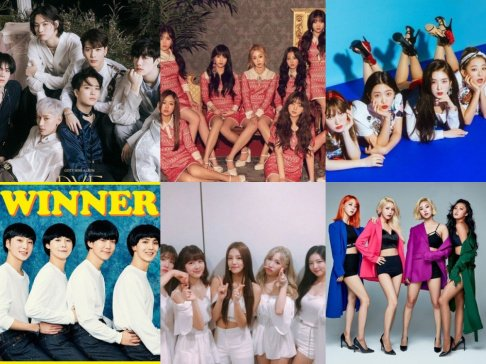 GOT7, LABOUM, Lovelyz, MAMAMOO, Red Velvet, WINNER