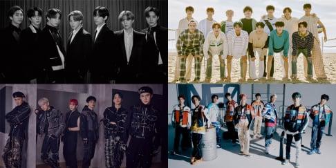 ASTRO, BTS, EXO, NCT, Seventeen