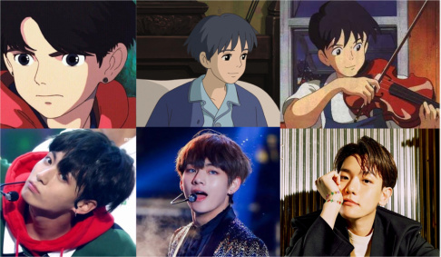 ASTRO, Cha Eun Woo, BTS, V, Jungkook, Jin, RM (Rap Monster), EXO, Baekhyun, Xiumin, NCT, Jungwoo, Renjun, Seventeen, Junghan, Vernon, WINNER, Kang Seung Yoon