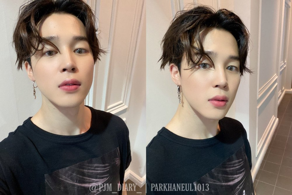 Bts Jimin Takes Twitter Trend By Storm After A Surprised Live Broadcast Two Latest Selcas Allkpop