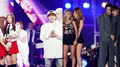 BTS, SUGA, EXO, Sehun, GFriend (Girlfriend), MAMAMOO, miss A, Suzy, MONSTA X, Minhyuk, PRISTIN, Seventeen, Woozi, Wonwoo, SHINee, Minho, SISTAR, VIXX