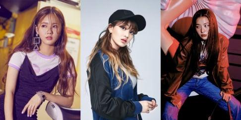Cosmic Girls, Seola, Soobin, (G)I-DLE, Miyeon, PRISTIN, Red Velvet, Seulgi, TWICE, Jihyo