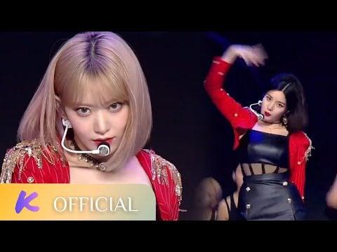 "IZ*ONE's Sakura and Kwon Eunbi perform a spectacular cover of Seulgi & Irene's ""MONSTER"""