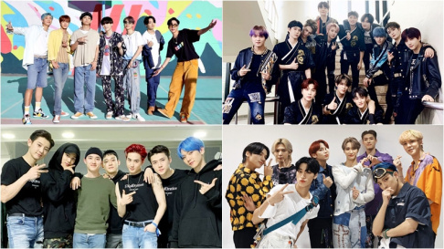 ATEEZ, BTS, EXO, NCT