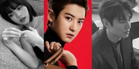 G-Dragon, BLACKPINK, Sehun, Baekhyun, Chanyeol, Taeyeon, Jackson, IU, Lee Jong Suk, Lee Min Ho, Park Seo Joon, HyunA
