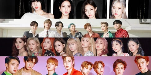 BLACKPINK, BTS, EXO, GFriend (Girlfriend), Girls