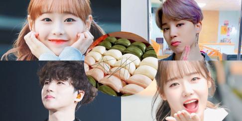 Sanha, Jimin, Xiumin, Yerin, Kim Jin Hwan, Chuu, (Soojung) Ryu Soo Jung, Arin, Dahyun, Choi Yoo Jung