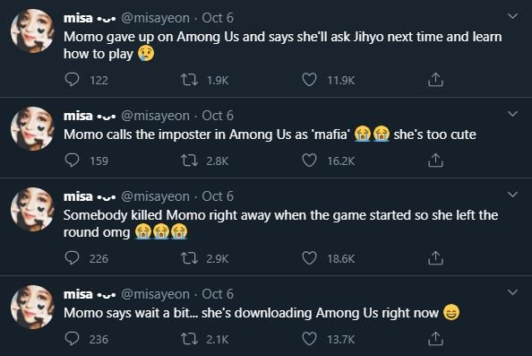 Twice S Nayeon And Momo Played Among Us With Fans Allkpop