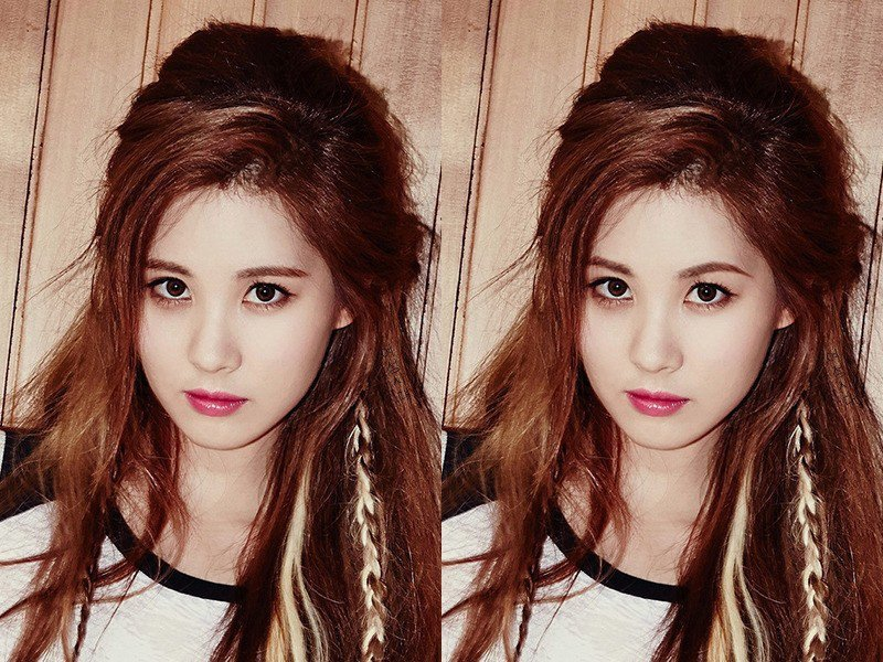 Netizen photoshops arched brows on female K-Pop idols with ...