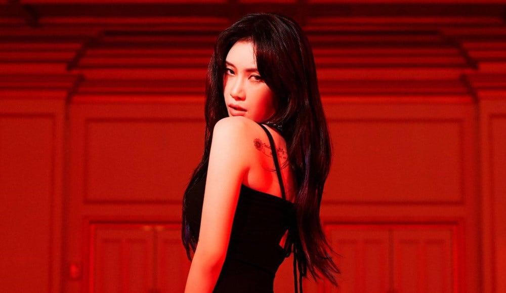 Yezi shows a shoulder in red for 'Subtle' teaser image | allkpop