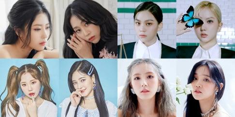 April, Naeun, Chaekyung, Cosmic Girls, Dayoung, Soobin, GFriend (Girlfriend), Eunha, Umji, (G)I-DLE, Miyeon, Yuqi, Lovelyz, (Mijoo) Lee Mi Joo, (Jisoo) Seo Ji Soo, Momoland, JooE, Nancy, Weki Meki, Choi Yoo Jung, Kim Do Yeon