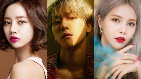 Bomi, Akdong Musician (AKMU), Suhyun, ASTRO, Jinjin, BLACKPINK, Lisa, CLC, Sorn, DAY6, Jae, Eric Nam, Baekhyun, Chen, Amber, Luna, Girl