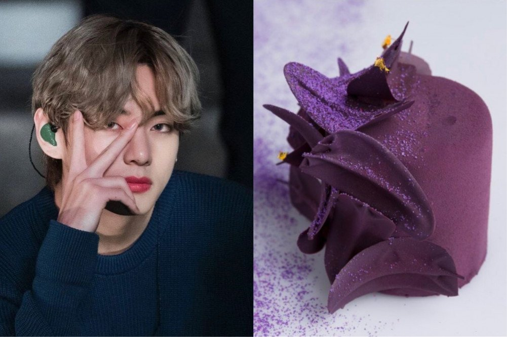 """[UCC] #BTS #V's """"I Purple You"""" transcends to culinary arts as a dessert named """"Borahae"""" takes social media by storm"""