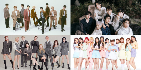 AB6IX, (G)I-DLE, GOT7, IZ*ONE, MONSTA X, Pentagon, Super Junior, The Boyz, TWICE
