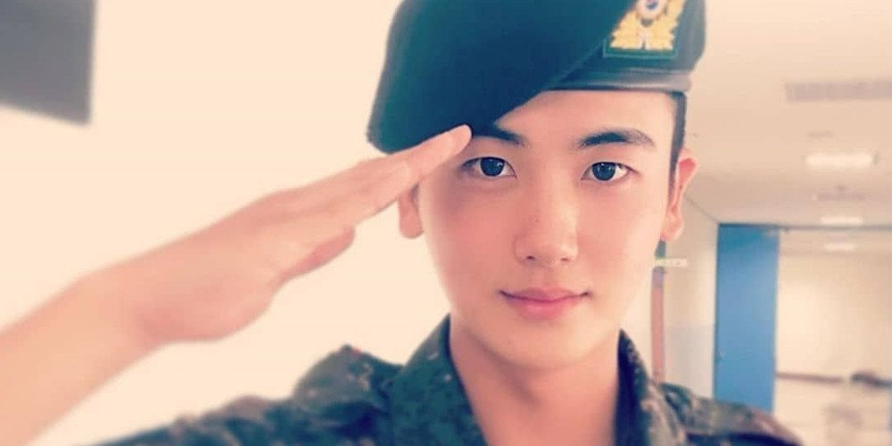 Hyungsik released from his military base on his final extended vacation leave prior to his official discharge next year