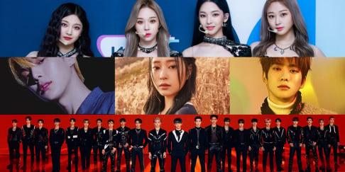 aespa, IZ*ONE, MONSTA X, Minhyuk, NCT, Jaehyun